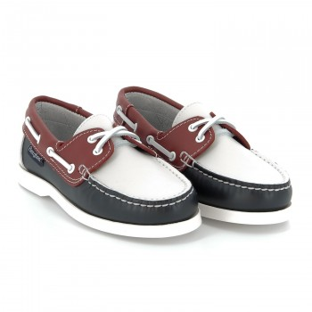 PORTLAND Leather Navy/Red/Whit